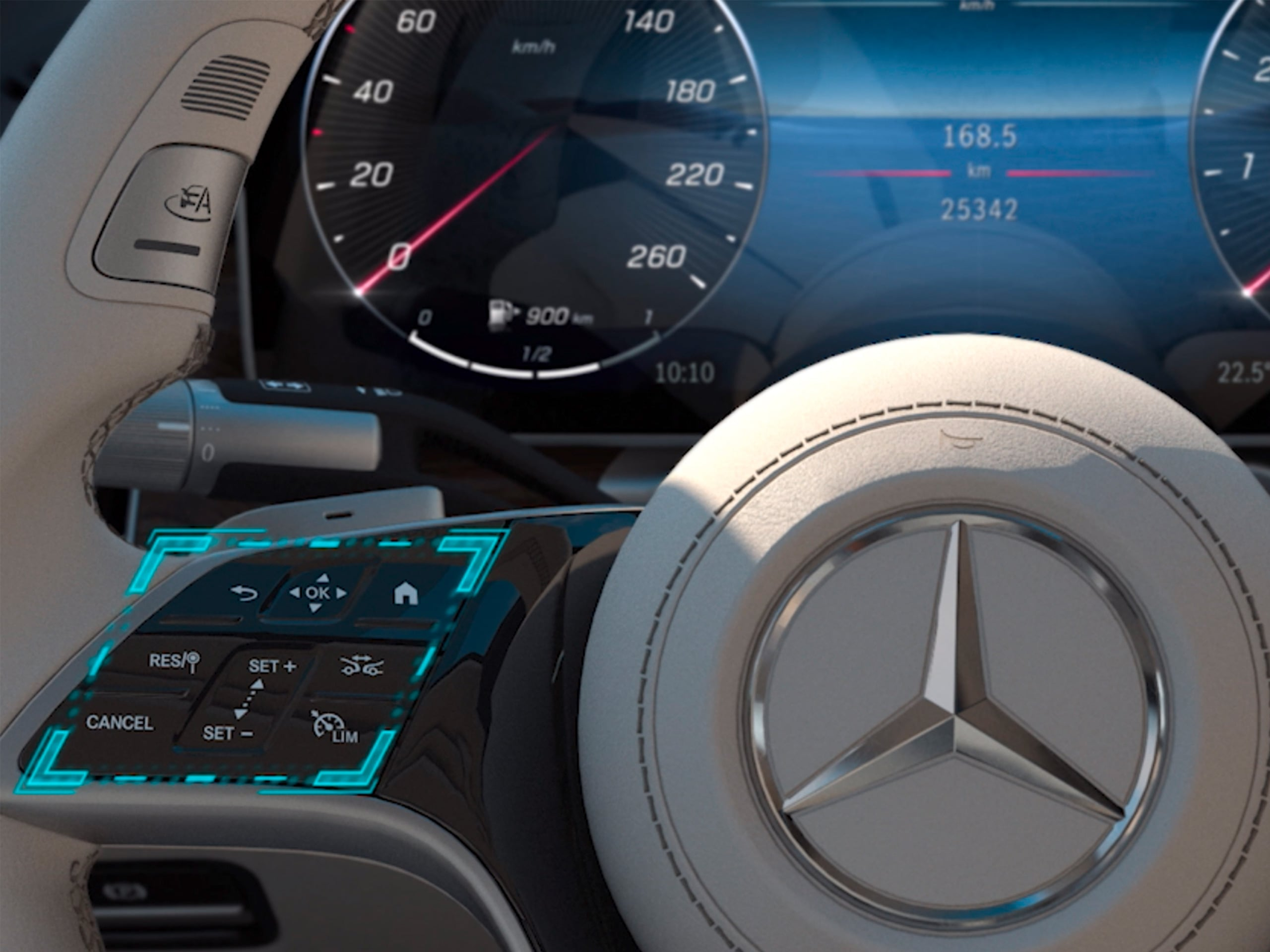 The video shows how the MBUX touch control concept of the Mercedes-Benz C-Class works.